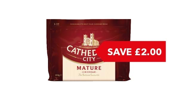 SAVE £2.00 | Cathedral City Cheddar 350g