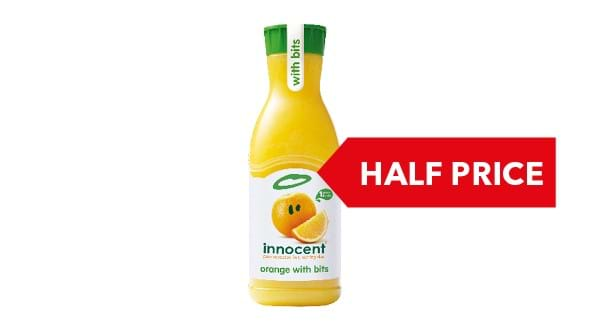 HALF PRICE | Innocent Juice 900ml