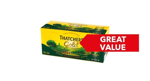 GREAT VALUE | Thatchers Gold 10x440ml
