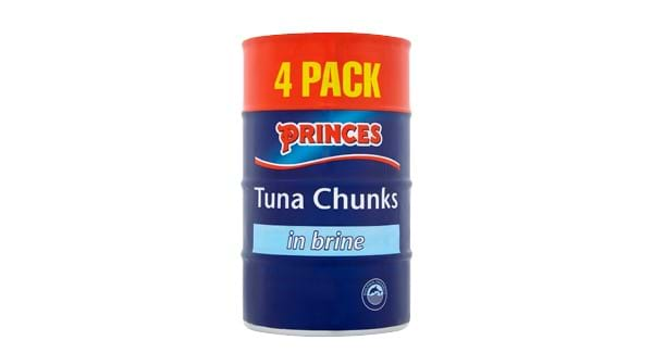 SAVE £1.00 | Princes Tuna Chunks 4x145g