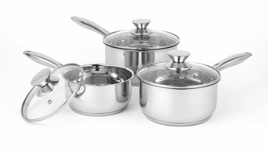Classic 3PC Stainless Steel Pan Set